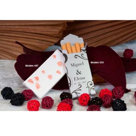 Cajetillas de cigarrillos Bouquet para boda, detalles de boda