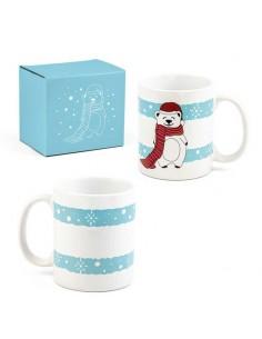 Taza porcelana oso polar con caja regalo
