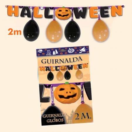 Guirnalda Halloween más globos