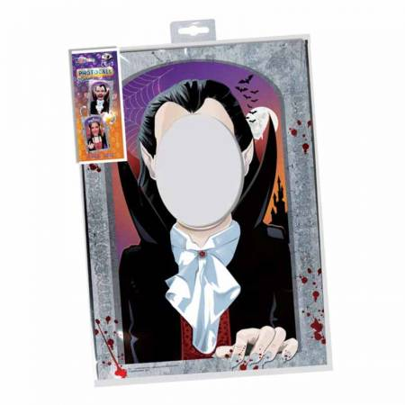 Original y práctico photocall vampiro y vampira, doble cara