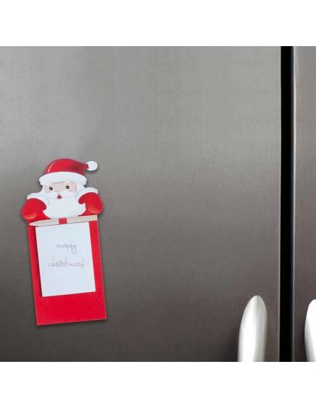 Santa Claus, con imán, para nevera con bloc y lapiz