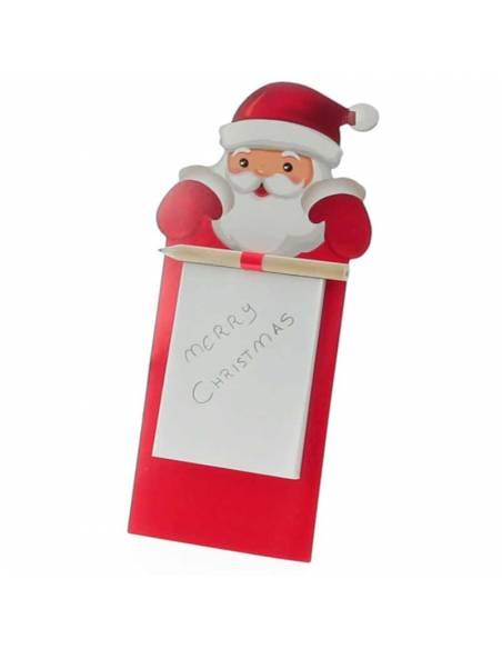 Imán Santa Claus para nevera con bloc