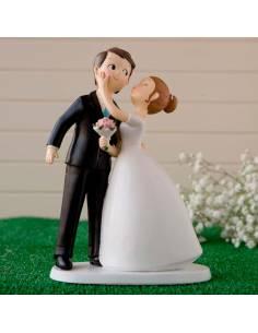 Figura para la tarta de bodas, novios beso