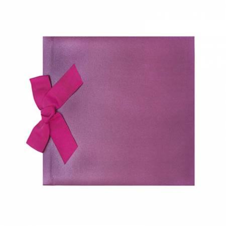 Libro de firmas para boda, lazo lila brillo