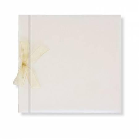 Libro de firmas boda lazo, blanco brillo. Sin personalizar