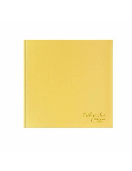 Libro de firmas Oro brillo, personalizado con termograbado