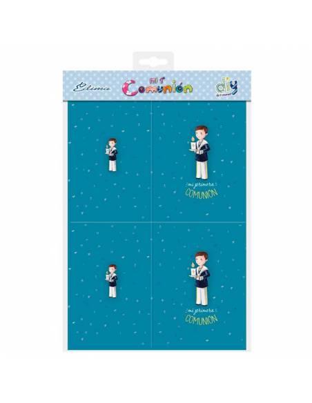 Bolsa con 10 portafotos de cartulina para la comunión