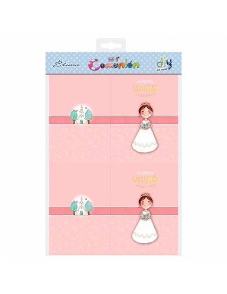 Detalle del parck de portafotos para comunión de niña