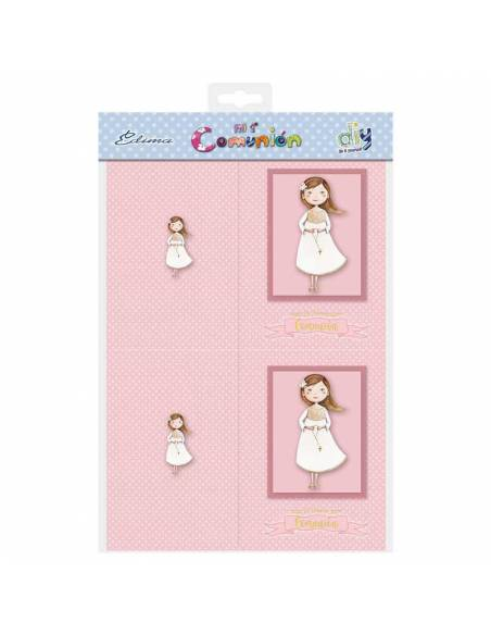 Pack 10 portafotos comunión para niña