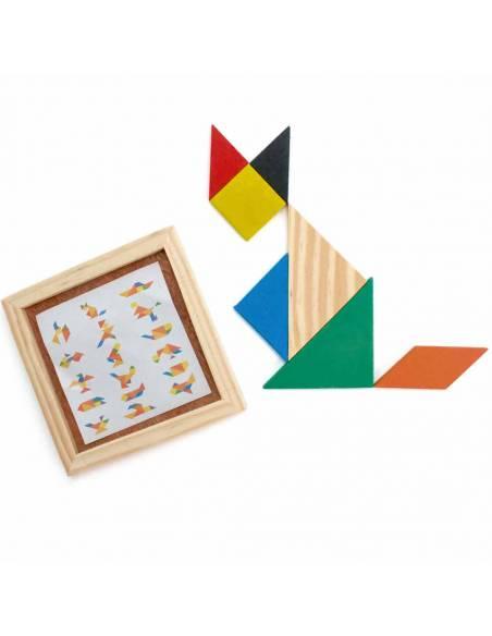 Juego de Rompecabezas Madera Tangram de 7 piezas