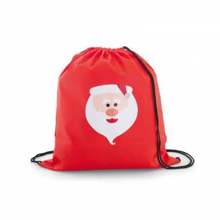Mochila infantil roja con Papá Noel, realizada en non woven