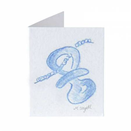 Tarjetita librito chupete de color azul