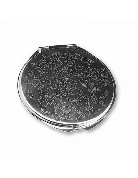 Espejo de metal labrado