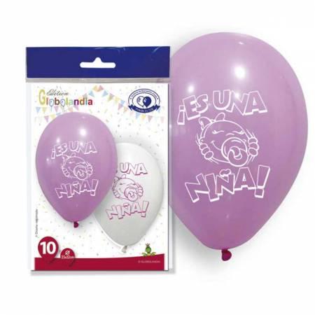 Globo rosa para decoración de bautizos o baby shower