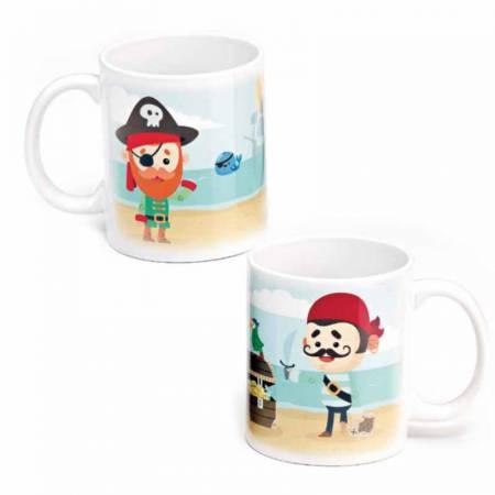"Taza para regalo ""Mi Primera Comunión"" Piratas"