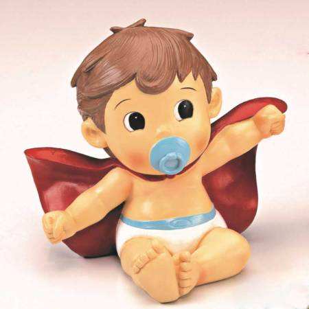 Figura bebé Superhéroe, para la tarta de un bautizo o de un cumpleaños