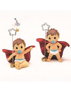 Original portafotos bebé SuperHéroe, recuerdo para bautizo