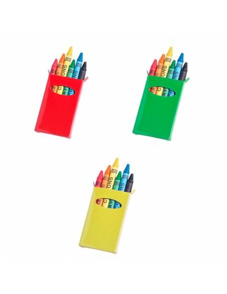 Caja con 6 ceras de colores