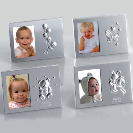 Marcos de fotos con diferentes decoraciones de bebé