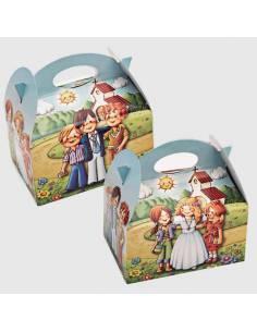 Caja para chucherias decoradas para Primera Comunión