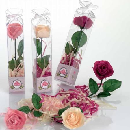 Rosas de jabón con tiras de jabón, 21 cm.