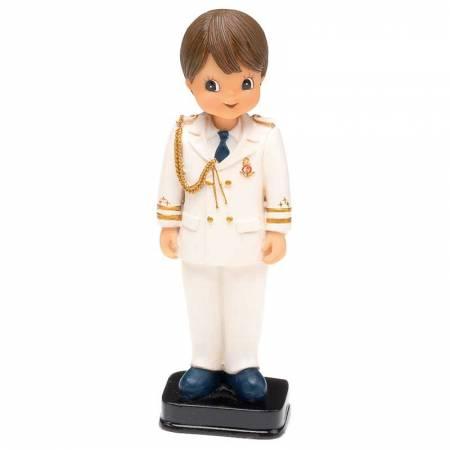 Muñeco para la tarta Primera Comunión niño traje beig almirante