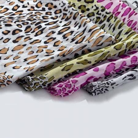 Fular estampado leopardo, 4 colores, se sirven surtidos.