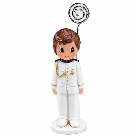 Sujeta tarjetas niño Comunión traje blanco. Recuerdo para Comunión