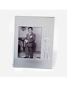 Portafotos de metal niño Comunión, detalles para invitados.