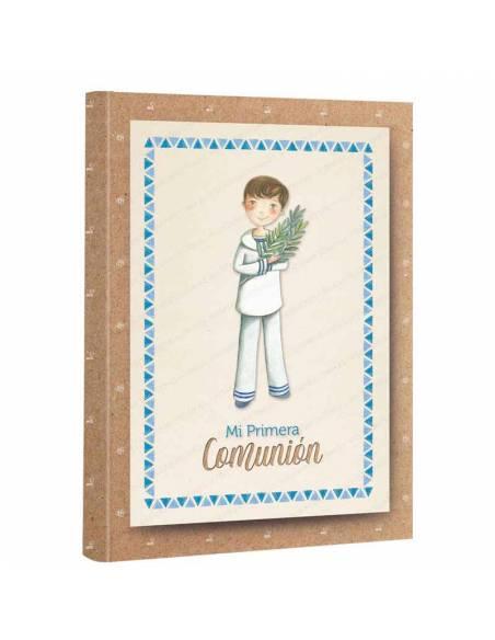 Libro de firmas para 1ª comunión, niño marinero con rama de olivo.