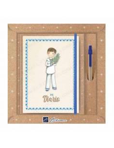 Pack diario Primera Comunión + bolígrafo Natur line