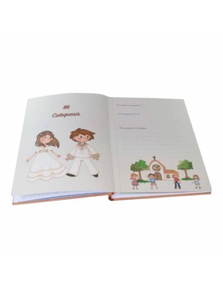 Detalle del interior del libro para firmas de comunión