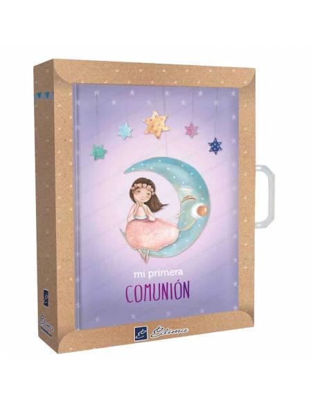 Estuche presentación para el libro de firmas niña en la luna
