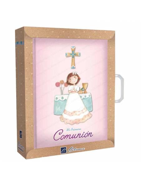 Estuche presentación del libro de firmas niña en el altar