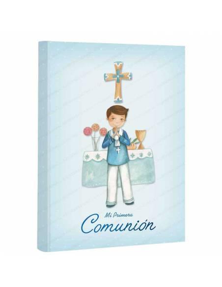 Libro para firmas comunión, sonriente marinero en el altar. 60 páginas a todo color