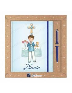 Pack diario Primera Comunión + bolígrafo Natur line. Marinero en el altar