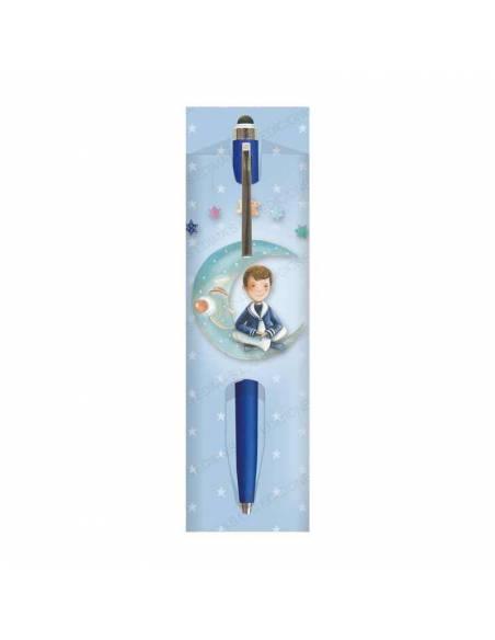 Funda comunión para bolígrafo, niño con rama de olivo