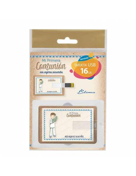 Bolsa presentación para la tarjeta USB, niño marinero con rama de olivo.