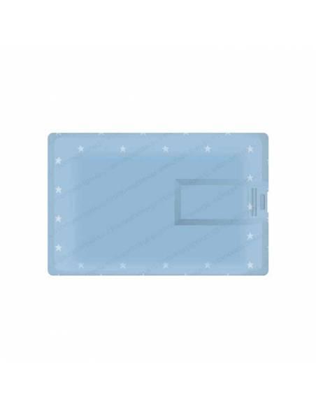 Zona trasera de la Tarjeta USB, 16 GB, para comunión. Niño marinero sentado en la luna