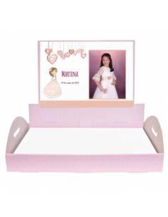 Bandeja Niña Comunión personalizada con foto, para los detalles de comunión