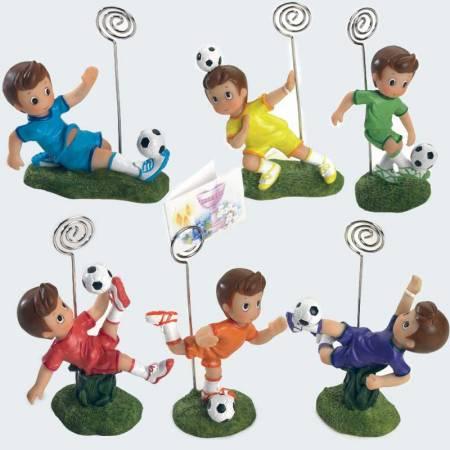 Futbolista con clip porta fotos o porta notas. Detalles para niños