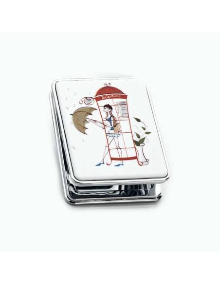 Espejo doble modelo cabina telefónica