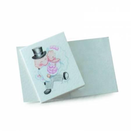 Tarjeta librito Pit&Pita novia en brazos, Detalles de boda