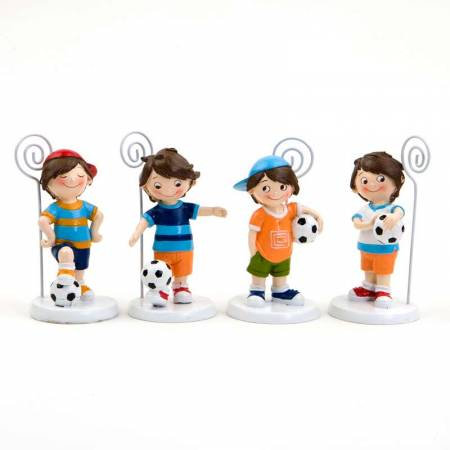 Clip porta notas o porta fotos niños futbolistas