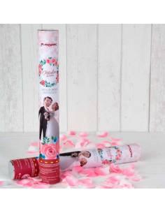 Cañón confeti pétalos rosa Pop and Fun caricia, 38cm