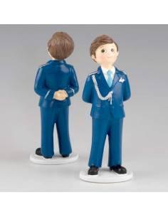 Muñeco para la tarta Primera Comunión almirante traje en azul marino