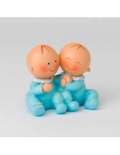Figuritas bebés gemelos detalles bautizo, de la colección Pit y Pita.