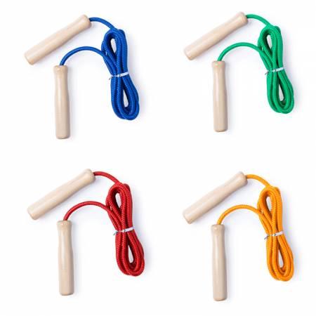 Saltador de madera y cuerda en colores