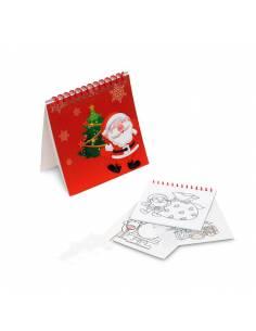 Cuaderno con plantillas para colorear con motivos navideños
