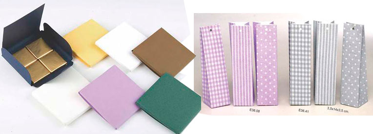 Cajas de cartón para la preparación de detalles